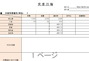 業務月報(Excel)