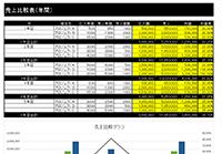 売上比較表(年間)