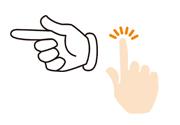 指・矢印の画像セット1