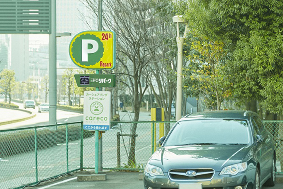 高機能自動販売機で駐車場を防災拠点に
