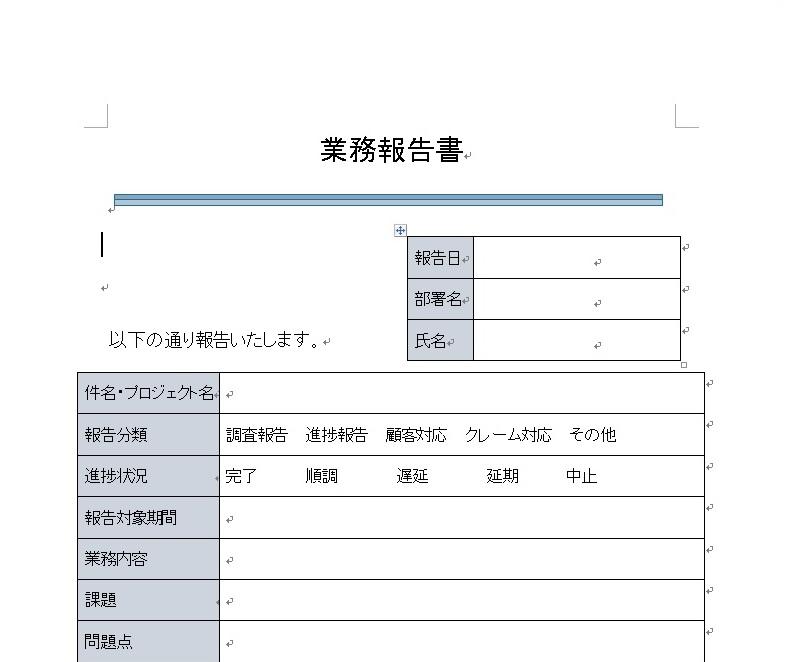 業務報告書1