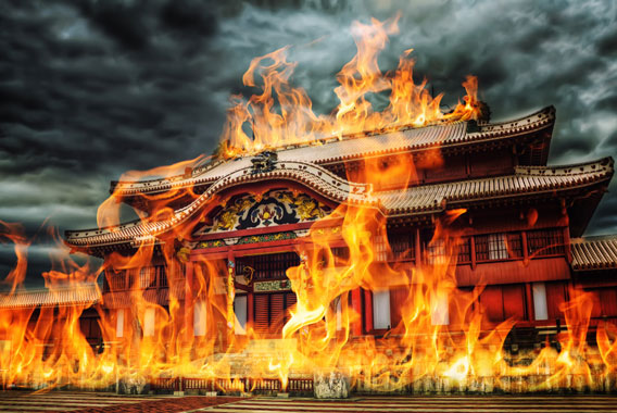 首里城の火災、映像に映っていたもの