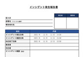 インシデント発生報告書(情報セキュリティ対策)